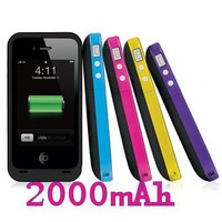 Charging External Charger Backup Battery Case for iPhone4 4G 4S 2000 mAh