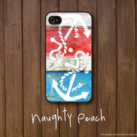 iPhone 4, 4S Case - Vintage Color Anchor