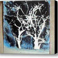Twilight Trees Stretched Canvas Print / Canvas Art By Teca Burq