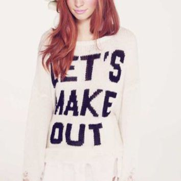 Wildfox Couture Let's Make Out in Clean White