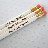 $3.50 enjoy the journey pencil set of three 3 in by thecarboncrusader