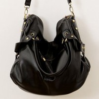 Graceful Buckles Tassels Messenger Bags Black : Wholesaleclothing4u.com