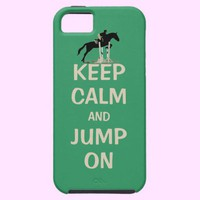 Keep Calm and Jump On Horse iPhone 5 Cover from Zazzle.com