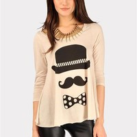 Gentlemen Caller Top - Beige at Necessary Clothing