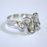 "Sterling silver ring ""Aguas II""--one of a kind--"