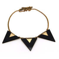 FREE SHIPPING Black Edie Necklace