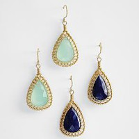 gold fill faceted drop earrings from RedEnvelope.com