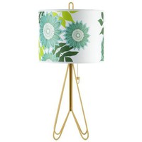 Lights Up! Flight Dark Yellow Anna Green Shade Table Lamp | LampsPlus.com