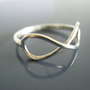 Infinity ring, Sterling Infinity Ring, To infinity and beyond, Bridesmaid gift, Best friend gifts, Love Knot, Forever Ring, Black Friday