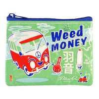 Weed Money Coin Purse - 95% Recycled Post Consumer Material - Whimsical & Unique Gift Ideas for the Coolest Gift Givers
