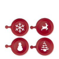 Holiday Cupcake Stencils, Set of 4