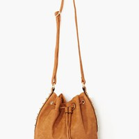 Studded Bucket Bag - Tan