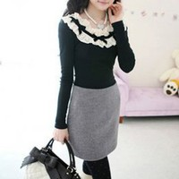 Hot Sale Cashmere Pleated Skirts Gray : Wholesaleclothing4u.com