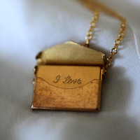 Envelope Love Letter Locket