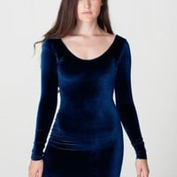 American Apparel - Velvet Long Sleeve Mini Dress