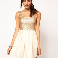 ASOS Sequin Dress with Square Neck at asos.com