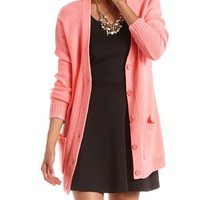 Long Sleeve Grandfather Cardigan: Charlotte Russe