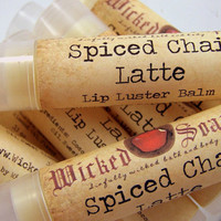 Lip Balm - Spiced Chai Latte Lip Balm - Cocoa Butter Beeswax Lip Balm Tube by WickedSoaps