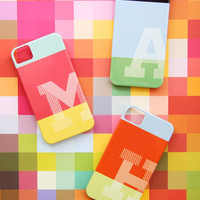Personalized iPhone 5 or 4 Case - Rothko Monos Collection - Monogrammed