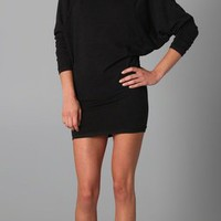 291 Seamed Dolman Dress