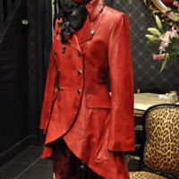 IMPERO LADIES RED LEATHER STEAMPUNK FITTED TAIL COAT | eBay