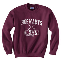 Harry Potter Hogwarts Alumni est 993 Size SMLXLXXLXXXL Sweatshirt Unisex Color Maroon