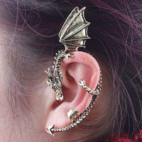 Golden Dragon Ear Cuff Earring