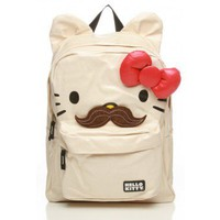 Hello Kitty Moustache Backpack with Ears