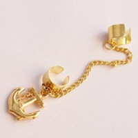 Cute Anchor Ear Cuff