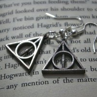 Deathly Hallows Earrings by FanaticAlley on Etsy