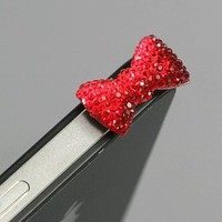 Amazon.com: Red / Earphone jack accessory / Bow Dust Plug / Ear Cap / Ear Jack For iPhone / iPad / iPod Touch / 3.5mm (7232-4): Cell Phones & Accessories