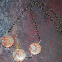 Jasper Geometric Inspired necklace, OOAK Jasper and seed bead necklace