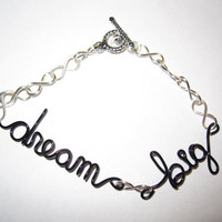 Dream Big Infinity Bracelet Quotes Unique Gifts