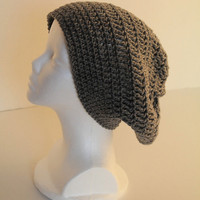 Slouchy Hat - Women - Grey