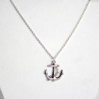 "Classic Anchor Necklace (22"")"