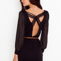 Lily Lattice Dress - Black - NASTY GAL