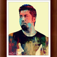 "CHERRY WAVES (Chino Moreno of DEFTONES 8x10"" Digital Illustration High Gloss Print by MoPS"