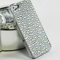 Amazon.com: LiViTech(TM) Diamond Stone Design Series Rhinestone Crystal Chrome Bling Case for Apple iPhone 5 (AT&amp;T,VERIZON,SPRINT) (Silver): Electronics