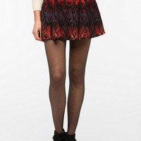 Ecote Seamed Flared Mini Skirt