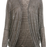 Fairisle Cocoon Cardigan - Miss Selfridge