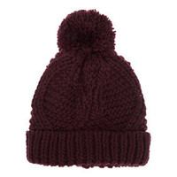 Cable Pom Pom Hat - Hats  - Accessories