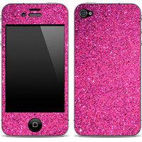Pink Glitter iPhone 4/4s Skin FREE SHIPPING