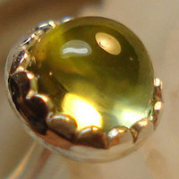 Sun Burst PERIDOT nose jewel (3mm)