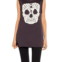 Crochet Skull Muscle Tee - 2020AVE