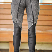 Just For Grunge Leggings: Smoky Grey | Hope's
