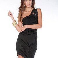 One Shoulder Drape Dress | Sexy Clothes Womens Sexy Dresses Sexy Clubwear Sexy Swimwear | Flirt Catalog