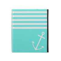 Turquoise Nautical iPad Folio Cases from Zazzle.com