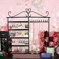 Amazon.com: Classic Black Jewelry Holder, Jewelry Stand for Earrings / Necklaces / Brecelets, Gift Idea: Home &amp; Kitchen