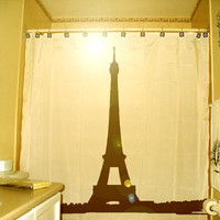 Eiffel Tower Shower Curtain Paris France La Tour Gustave Eiffel Champ de Mars iron lattice, unique Shower Curtains