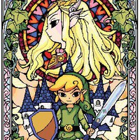 Legend Of Zelda Stained Glass Cross Stitch Pattern | Los Angeles Needlework